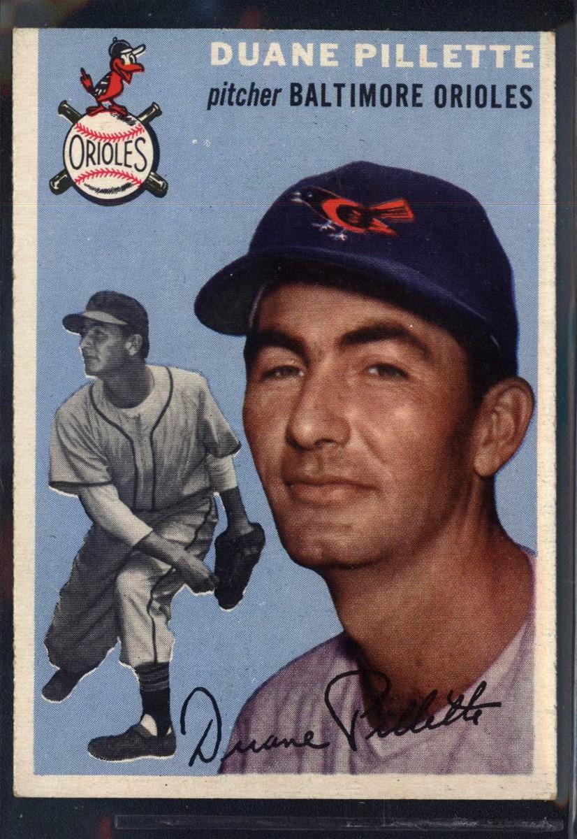1954 Topps #107 Duane Pillette