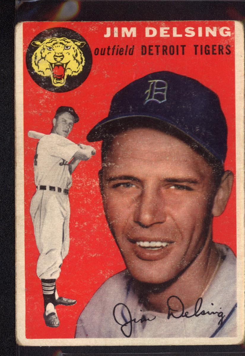 1954 Topps #111 Jim Delsing