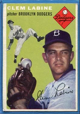 1954 Topps #121 Clem Labine