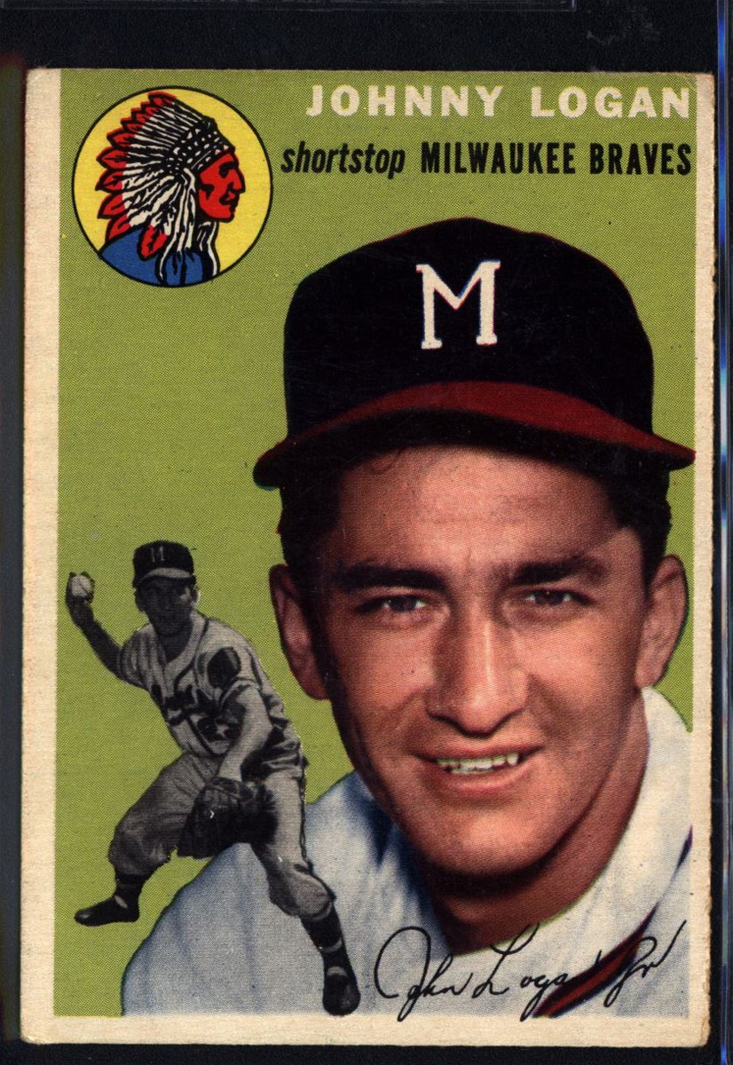 1954 Topps #122 Johnny Logan