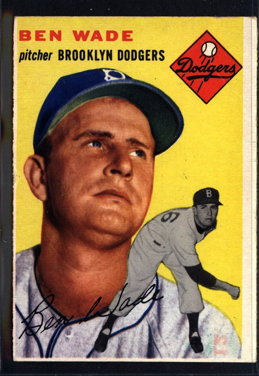 1954 Topps #126 Ben Wade
