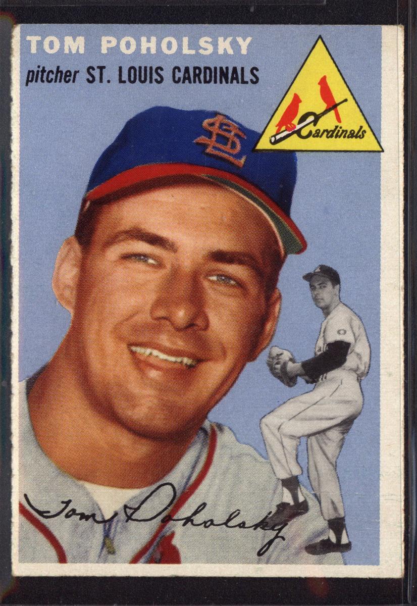 1954 Topps #142 Tom Poholsky
