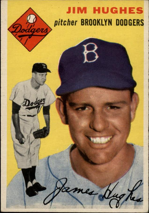 1954 Topps #169 Jim Hughes