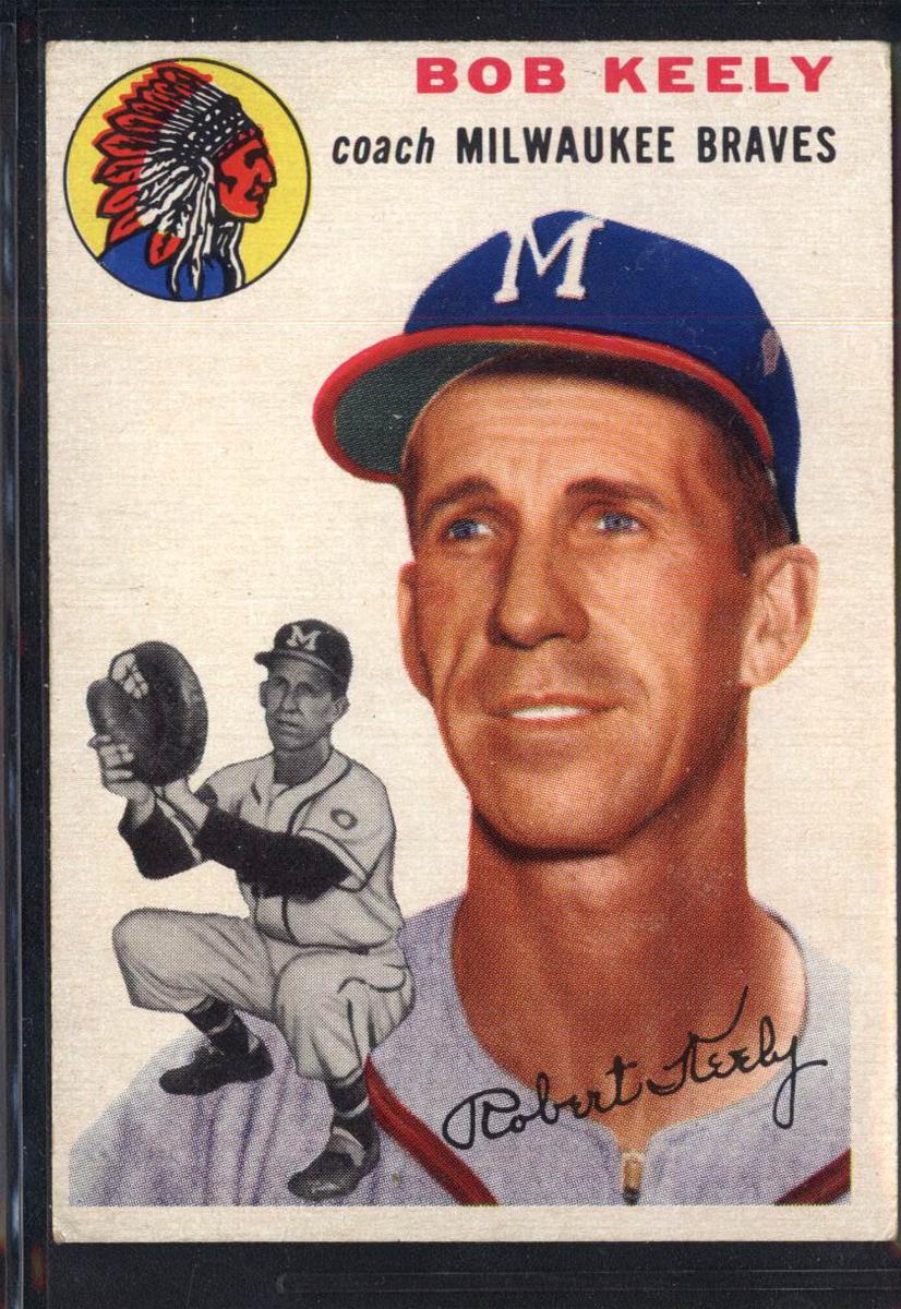 1954 Topps #176 Robert Keely CO
