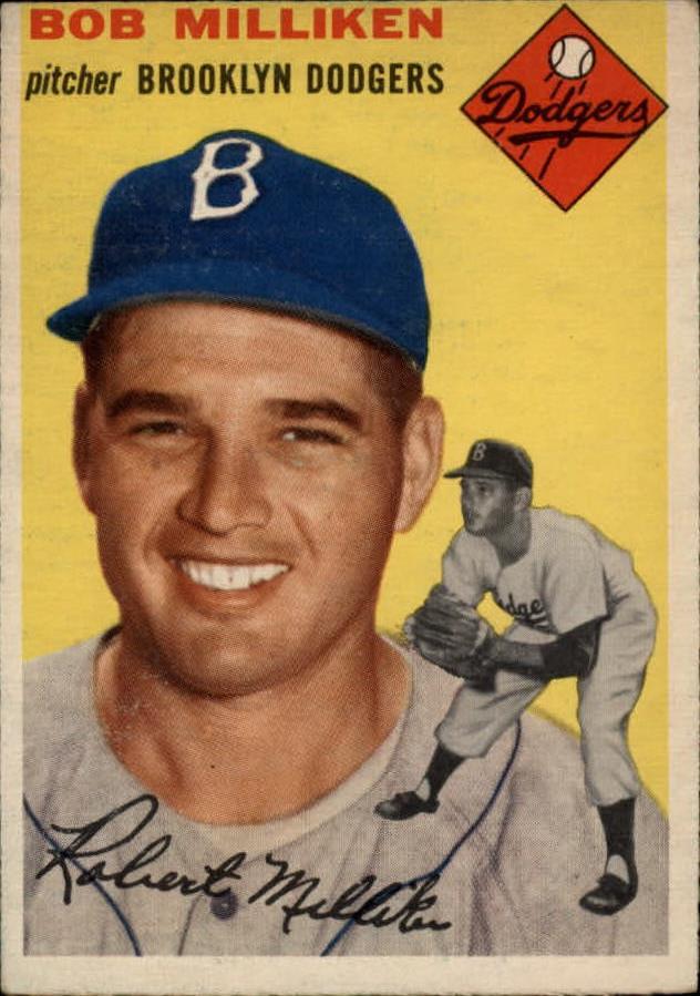 1954 Topps #177 Bob Milliken
