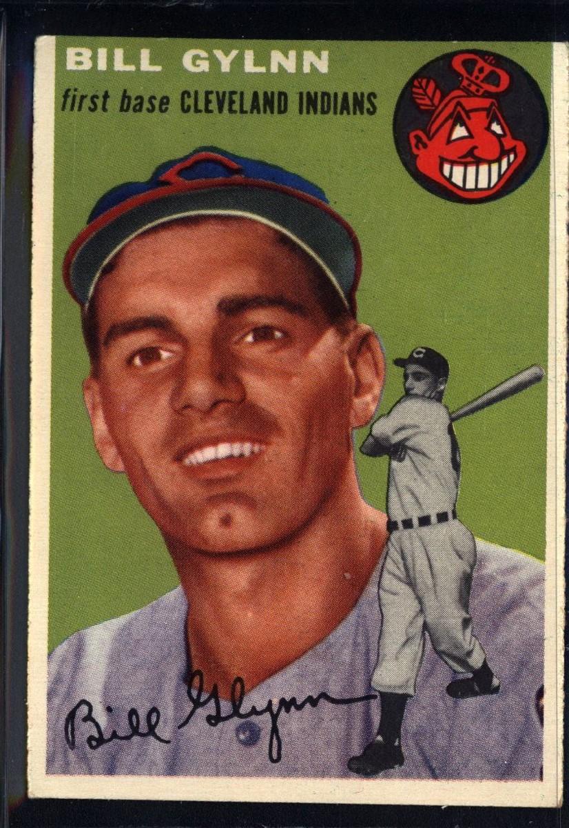 1954 Topps #178 Bill Glynn UER/Spelled Gylnn on the front