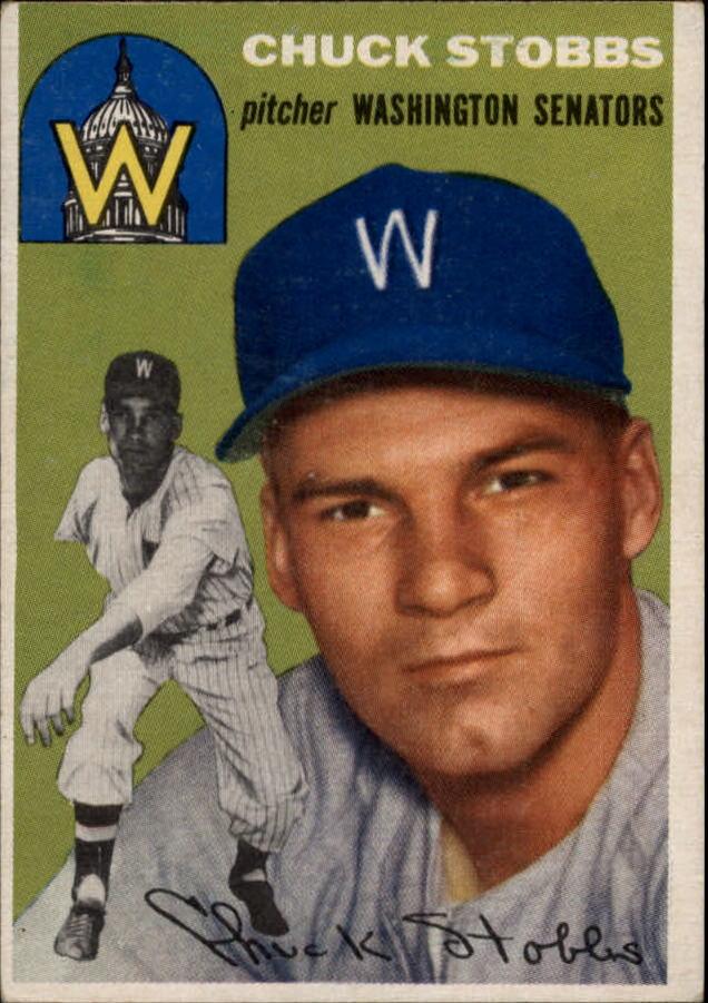 1954 Topps #185 Chuck Stobbs