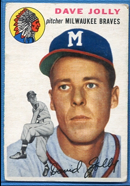 1954 Topps #188 Dave Jolly RC