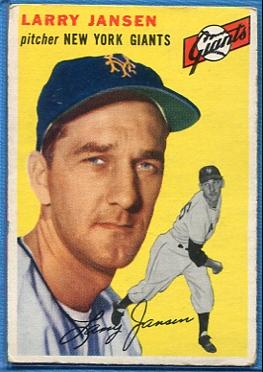 1954 Topps #200 Larry Jansen