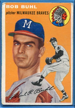 1954 Topps #210 Bob Buhl RC