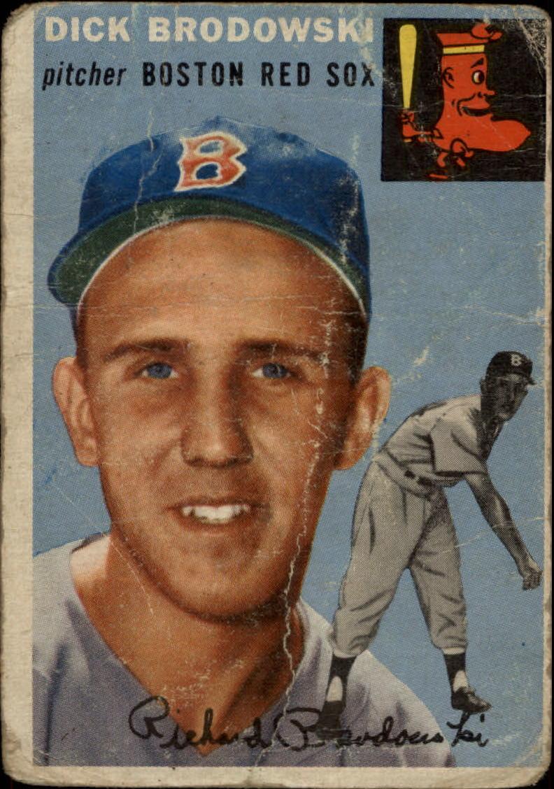 1954 Topps #221 Dick Brodowski