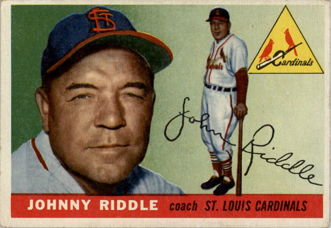 1955 Topps #98 John Riddle CO