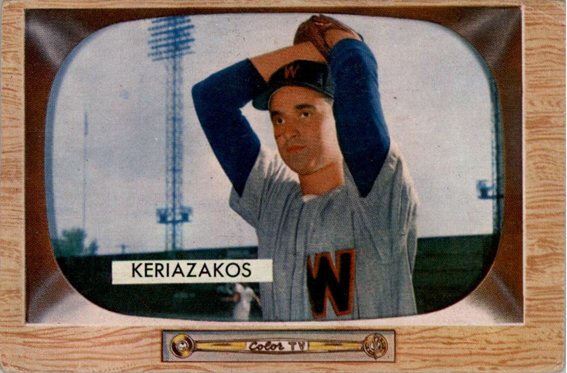1955 Bowman #14 Gus Keriazakos RC