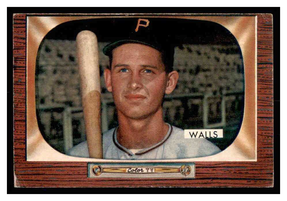1955 Bowman #82 Lee Walls RC