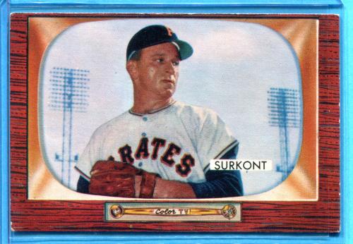 1955 Bowman #83 Max Surkont