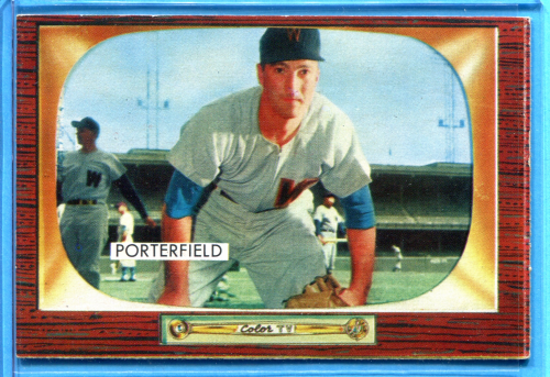 1955 Bowman #104 Bob Porterfield