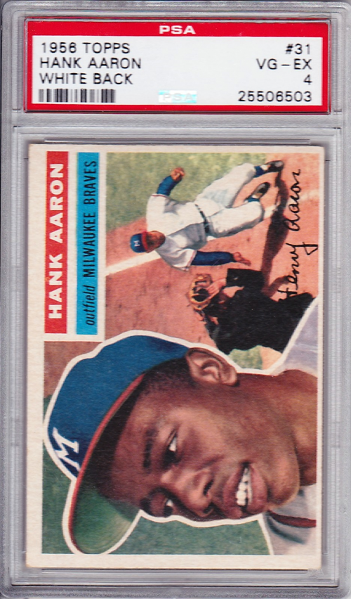 1956 Topps #31 Hank Aaron UER DP/Small photo/actually Willie Mays
