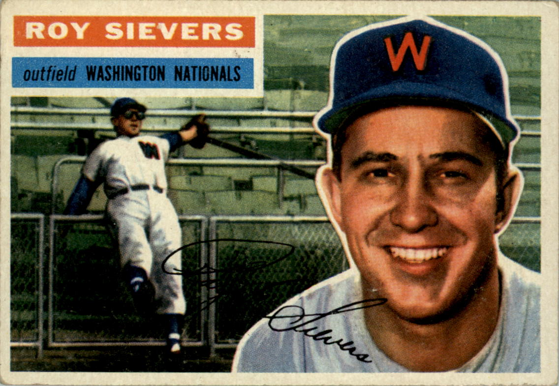 1956 Topps #75A Roy Sievers GB
