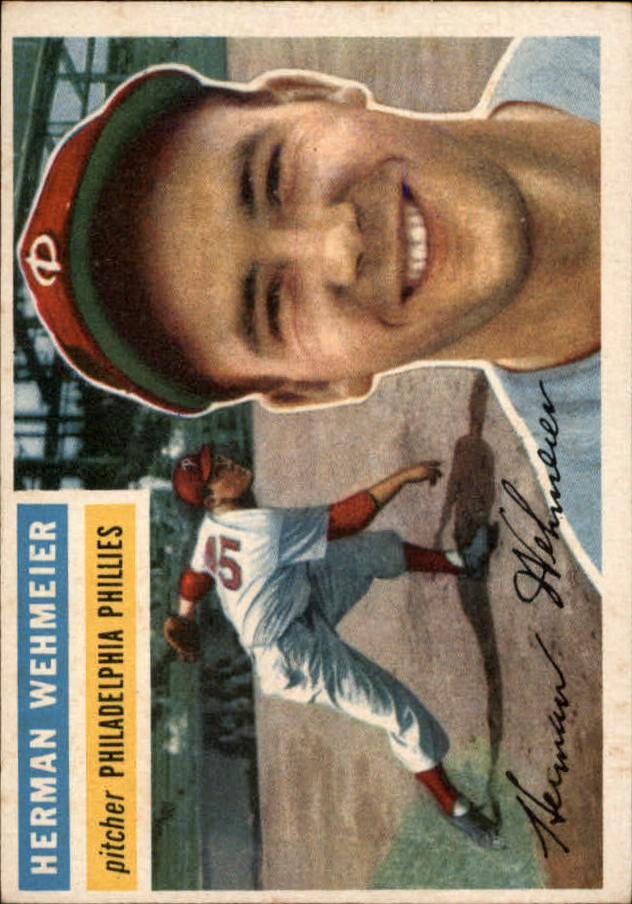1956 Topps #78 Herman Wehmeier