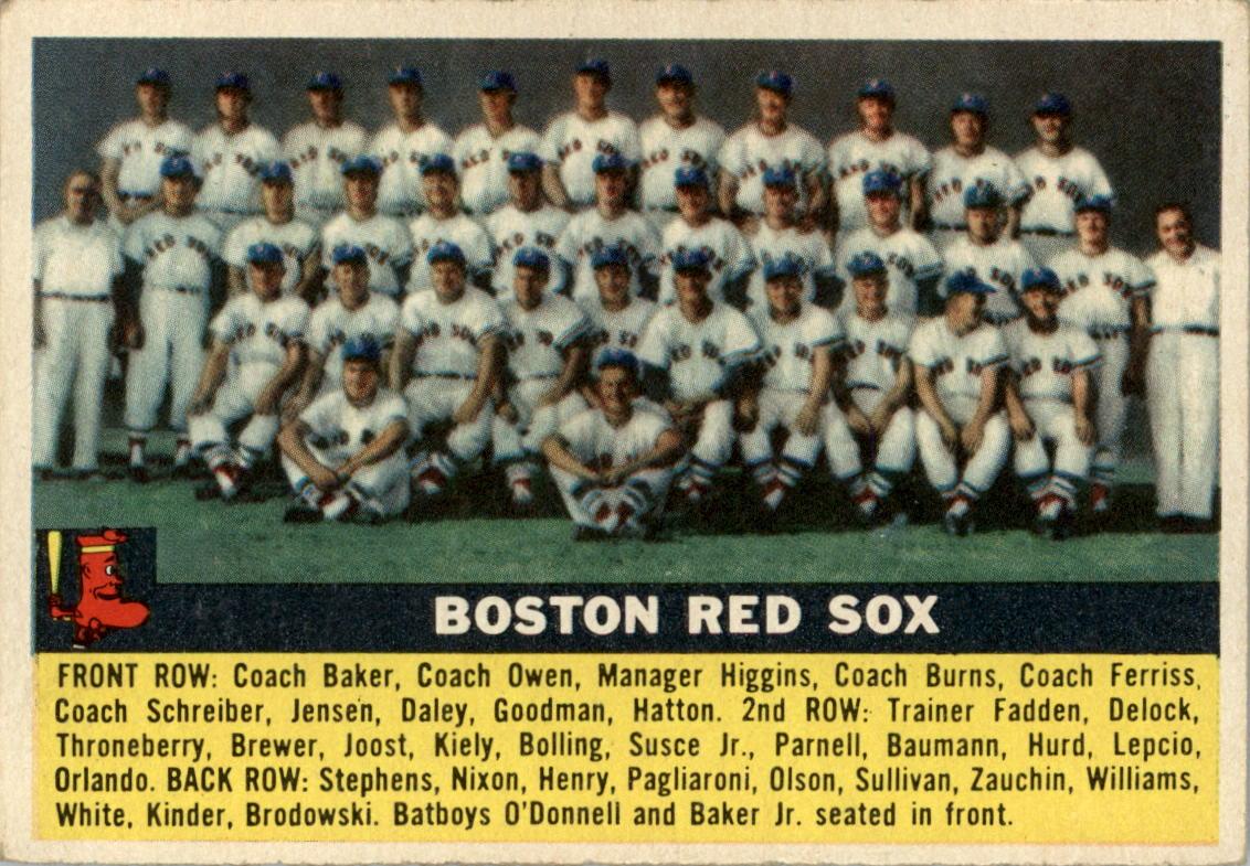 1956 Topps #111 Boston Red Sox TC