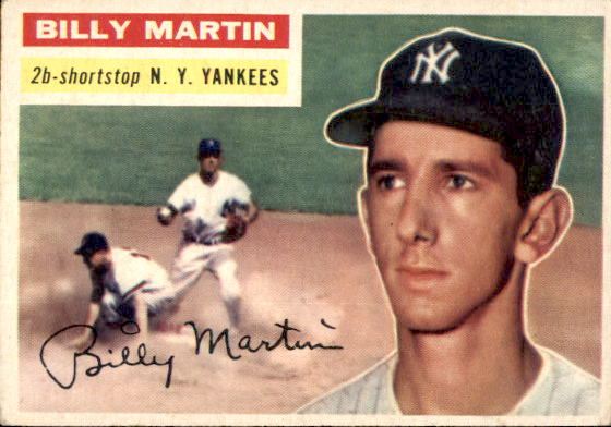 1956 Topps 181 Billy Martin Scan Of Actual Card You Will