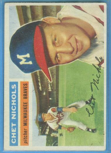 1956 Topps #278 Chet Nichols