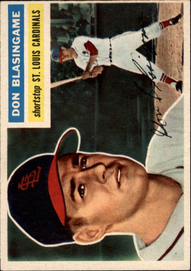 1956 Topps #309 Don Blasingame RC