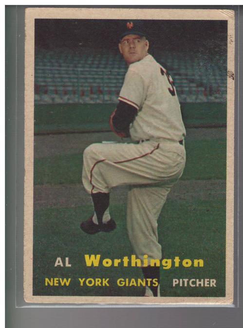 1957 Topps #39 Al Worthington RC