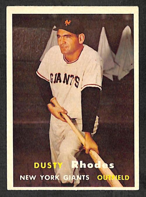 1957 Topps #61 Dusty Rhodes