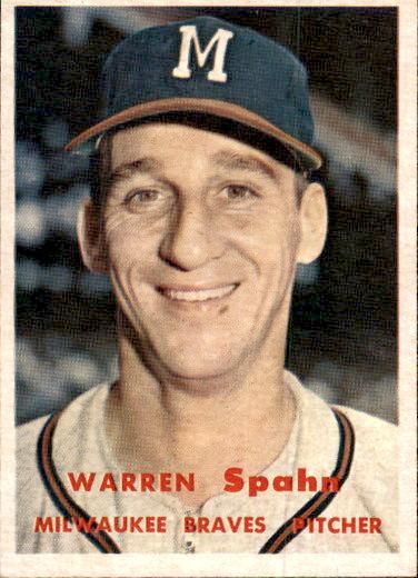 1957 Topps #90 Warren Spahn