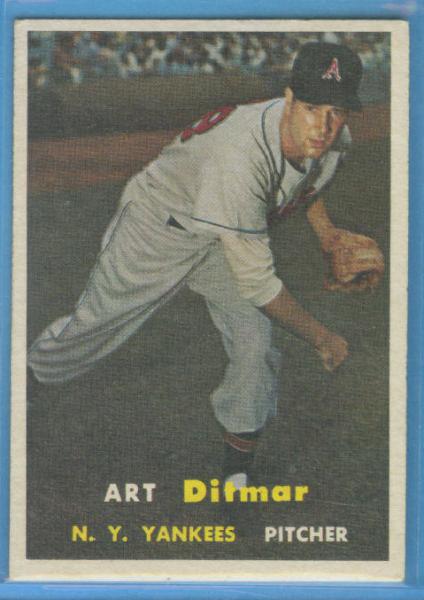1957 Topps #132 Art Ditmar