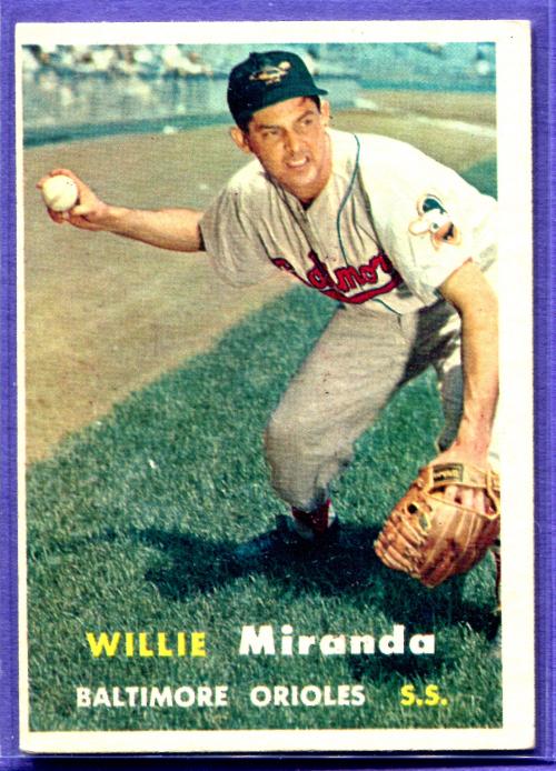 1957 Topps #151 Willie Miranda