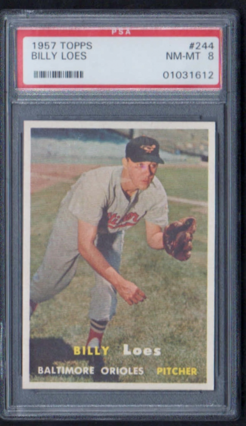 1957 Topps #244 Billy Loes