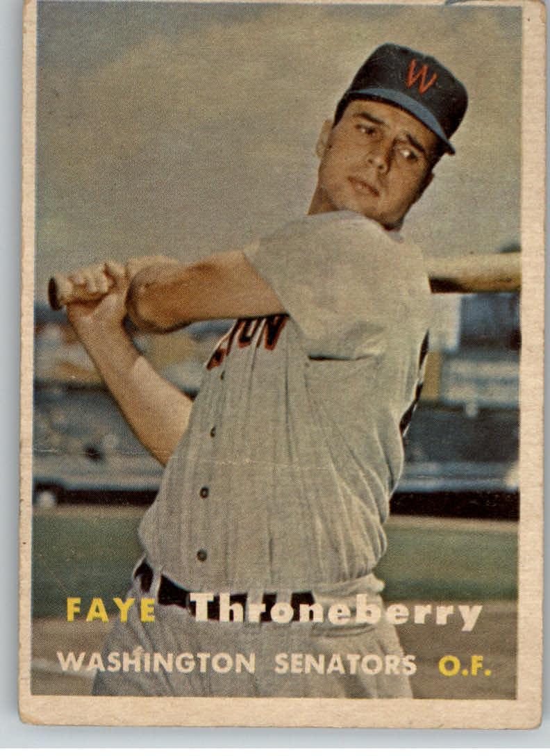 1957 Topps #356 Faye Throneberry
