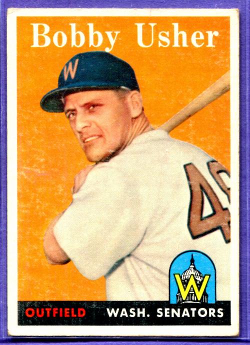 1958 Topps #124 Bobby Usher