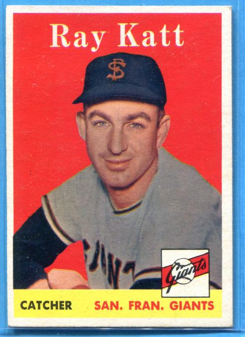 1958 Topps #284 Ray Katt