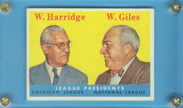 1958 Topps #300 League Presidents/Will Harridge/Warren Giles