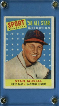 1958 Topps #476 Stan Musial AS TP