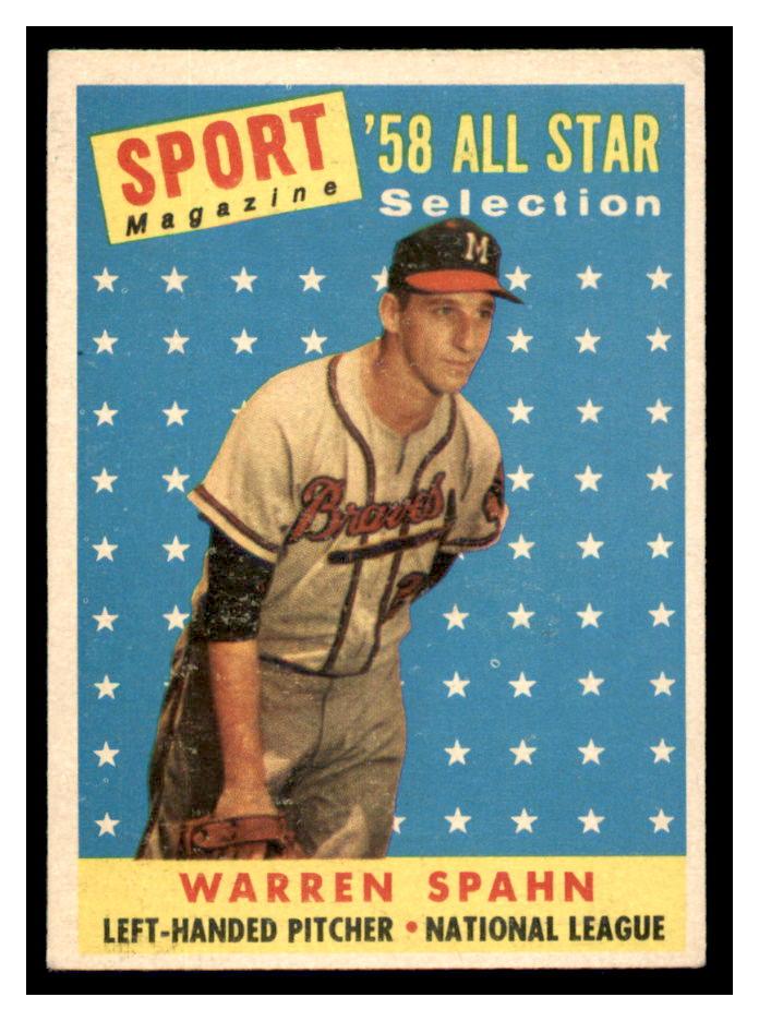 1958 Topps #494 Warren Spahn AS