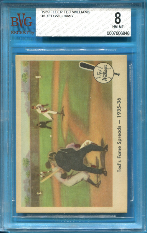 1959 Fleer Ted Williams #5 Ted's Fame Spreads