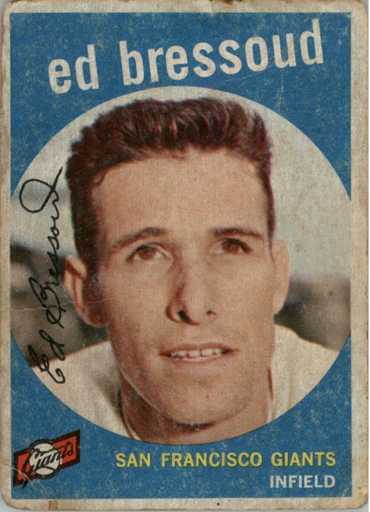 1959 Topps Venezuelan #19 Eddie Bressoud