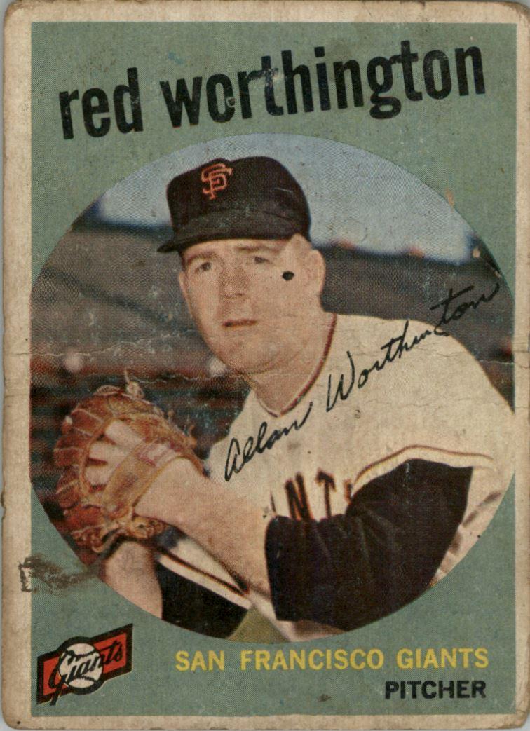 1959 Topps Venezuelan #28 Al Worthington