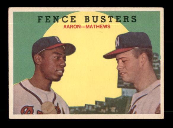 1959 Topps #212 Fence Busters/Hank Aaron/Eddie Mathews