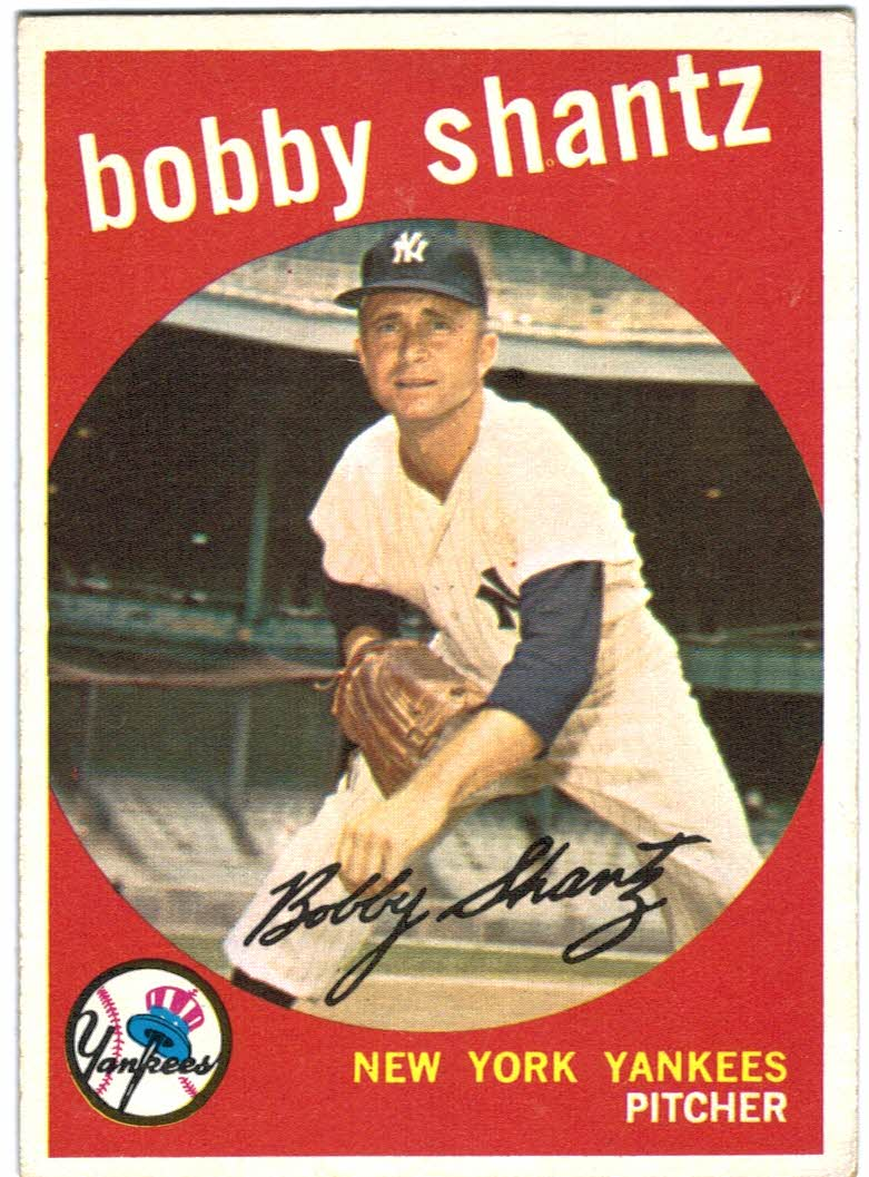 1959 Topps #222A Bobby Shantz GB