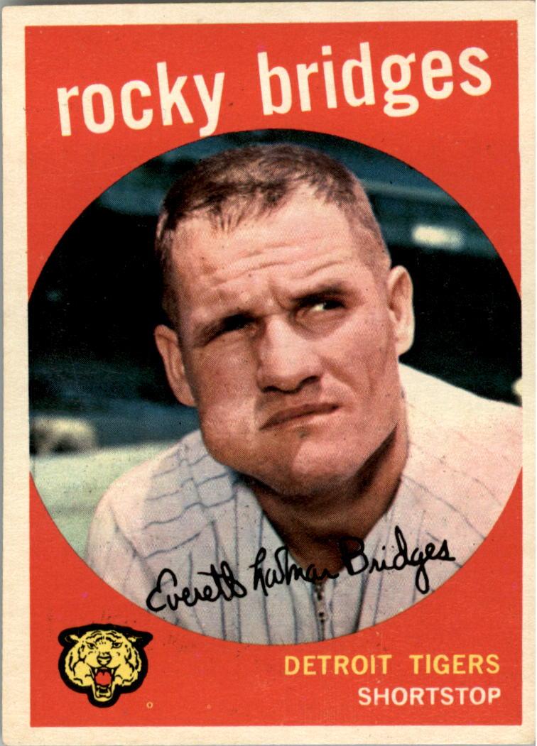 1959 Topps #318 Rocky Bridges