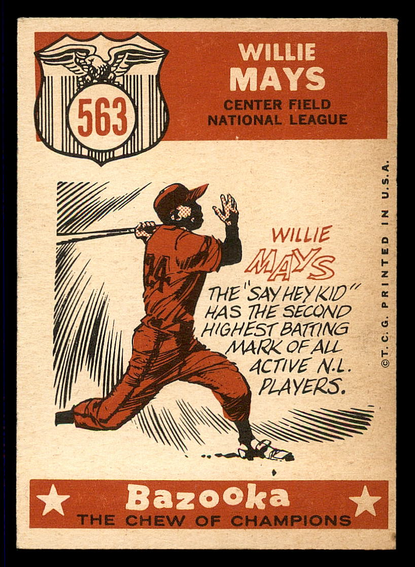 1959 Topps #563 Willie Mays AS back image