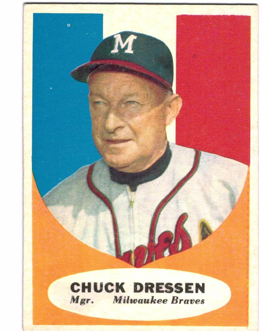 1961 Topps #137 Chuck Dressen MG