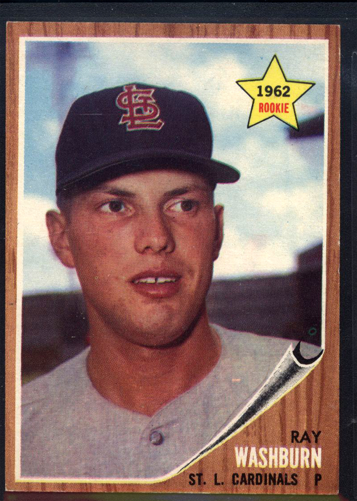 1962 Topps #19 Ray Washburn RC