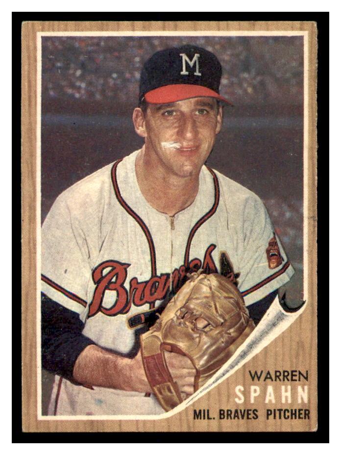 1962 Topps #100 Warren Spahn