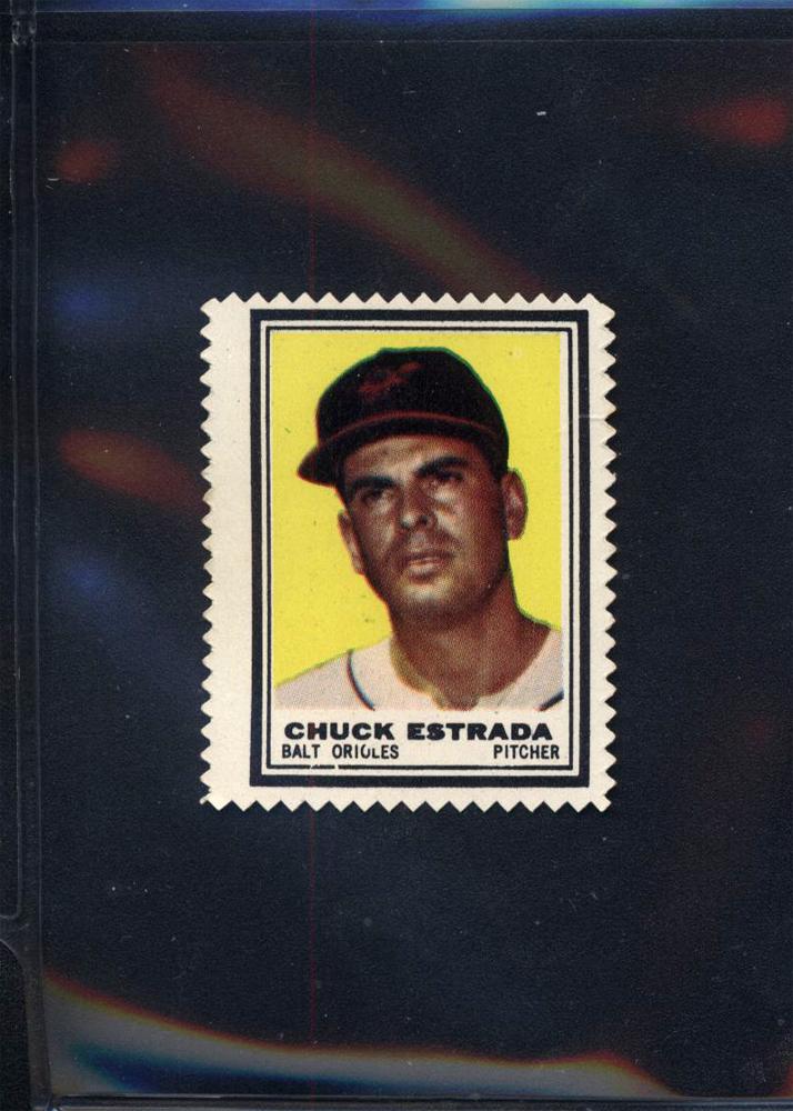 1962 Topps Stamps #4 Chuck Estrada